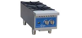 Globe® 2 Burner  Gas Hot Plate