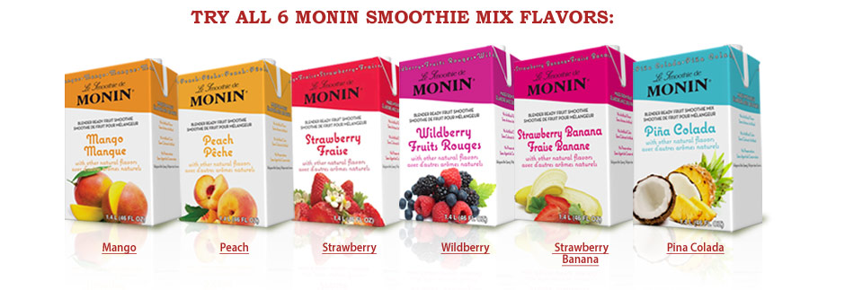 Monin Smoothie Flavors