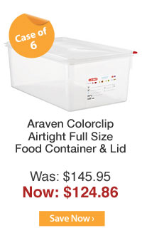 Araven Colorclip Airtight Full Size Food Container & Lid