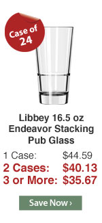 Libbey 16.5 oz Endeavor Stacking Pub Glass