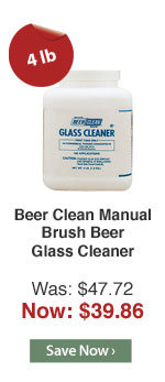 Beer Clean Manual Brush Beer Glass Cleaner