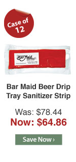 Bar Maid Beer Drip Tray Sanitizer Strip