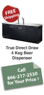 True Direct Draw 4 Keg Beer Dispenser
