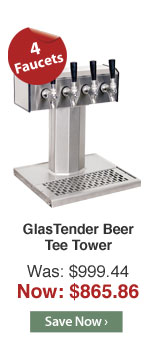 GlasTender Beer Tee Tower