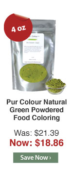 Pur Colour Natural Green Powdered Food Coloring