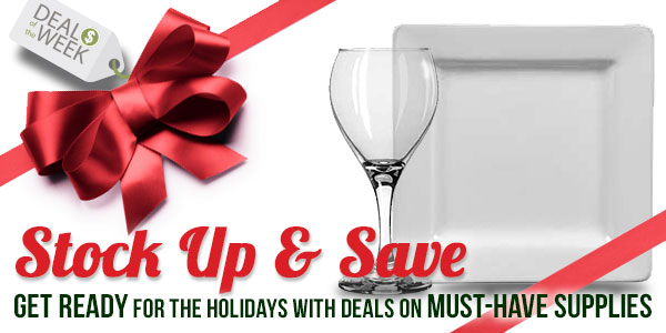 Stock Up & Save for the Holidays